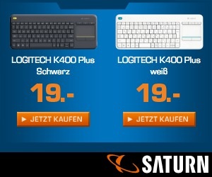 Logitech K400 Plus in weiß oder schwarz für 19€ bei Saturn kaufen