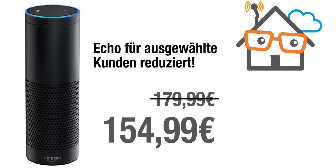 Ausgewählte Kunden erhalten amazon echo aktuell 25€ günstiger