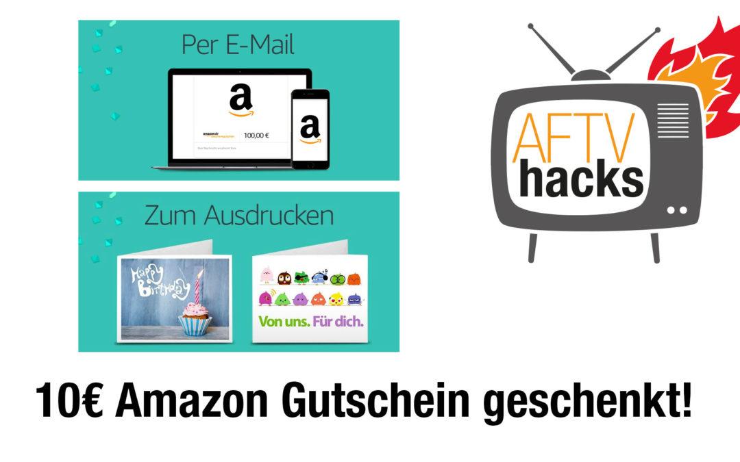 10€ Amazon Gutschein geschenkt beim Kauf eines 100€ Gutscheines