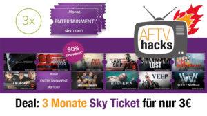 Aktuell gibt es 3 Monate Sky Ticket für nur 3€