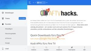Google Play Store für den Amazon Fire TV Stick und Fire TV herunterladen und installieren