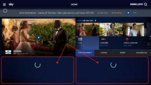 Sky Ticket lädt oft Inhalte nach - einfach fertig laden lassen, sonst riskiert man den ein oder anderen Absturz