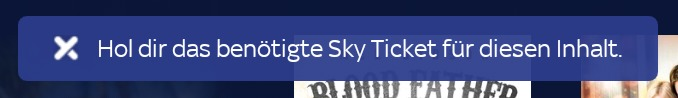 Sky Ticket Fehlermeldung auf dem Fire TV: Hol dir das benötigte Sky Ticket für diesen Inhalt