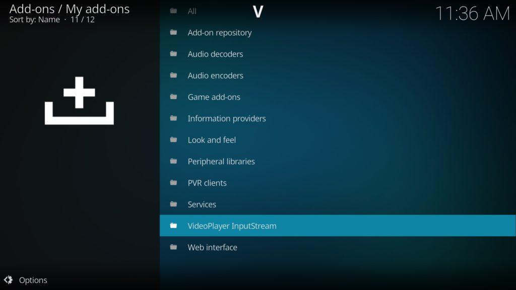 VideoPlayer InputStream auswählen und öffnen