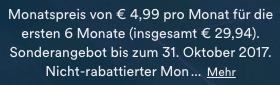 Der Eurosport Player kann bei Eurosport direkt aktuell nur für mindestens ein halbes Jahr gebucht werden - was knapp 30€ entspricht.