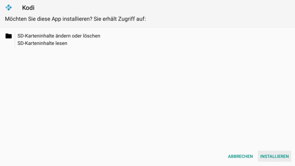 """Der neue Installieren Dialog unter FireOS6 - auch hier einfach unten rechts auf """"INSTALLIEREN"""" klicken"""
