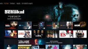 Neue Kachelaufteilung der Fire TV Oberfläche 5.2.6.0
