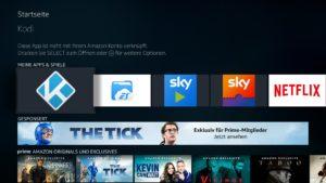 Per Sideload installierte Apps werden jetzt auch auf der Startseite des Fire TV 3 angezeigt