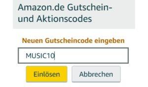 Amazon Gutscheincode eingeben