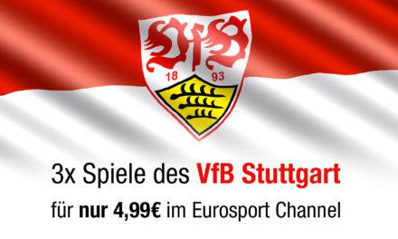 VfB Stuttgart Fans aufgepasst: 3 Spiele für 5€ auf Eurosport