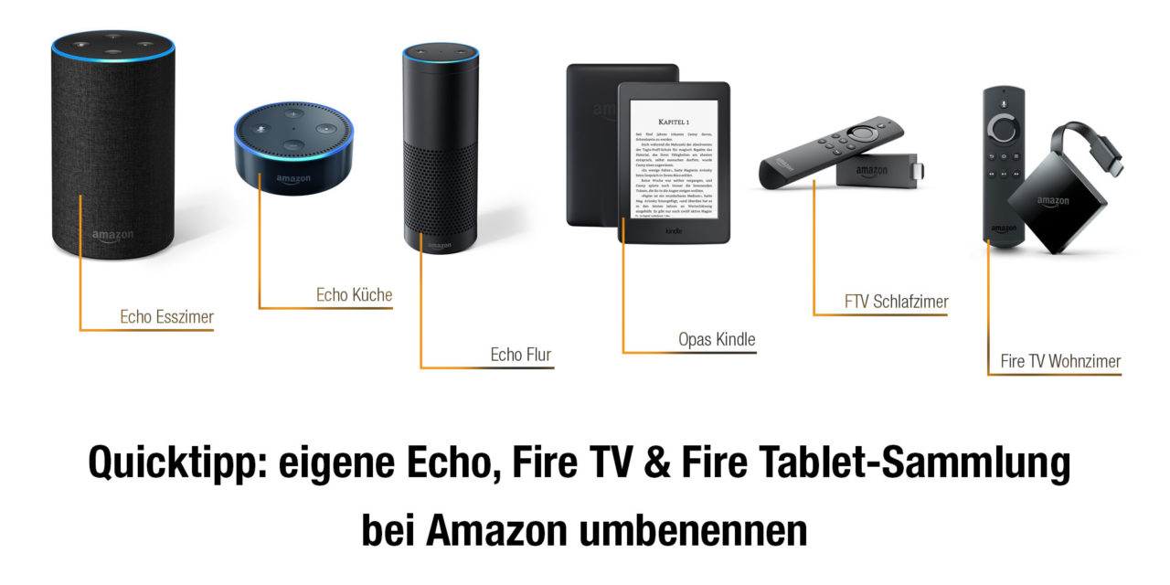 tipp amazon echo fire tv kindle oder fire tablet eigene namen geben. Black Bedroom Furniture Sets. Home Design Ideas