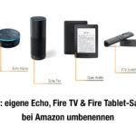 Quicktipp: eigene Echo, Fire TV & Fire Tablet-Sammlung bei Amazon umbenennen