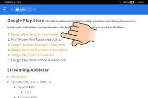 Google Play Services auswählen