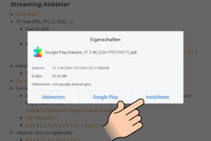 Google Play Services auf dem Fire HD installiern