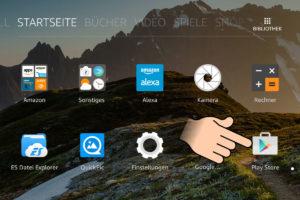 Google Play Store auf dem Fire HD öffnen