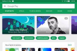 Google Play Store auf dem Fire HD verwenden