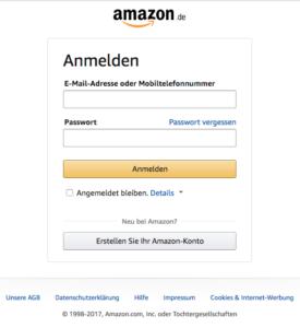 Meldet Euch bei Amazon mit dem selben Konto an, mit dem auch Eure Geräte angemeldet sind