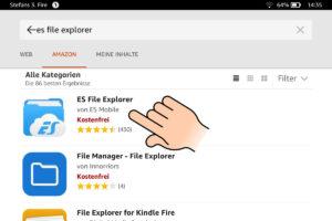 ES File Explorer im Amazon App Store auswählen