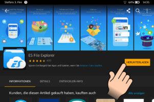 ES File Explorer auf dem Fire HD herunterladen und installieren