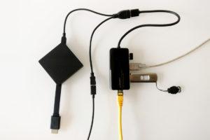 Das Fire TV 3 kann via OTG-Kabel an den uGreen USB-LAN-Adapter angeschlossen werden. Auch hier kann man die gleichen Geräte verwenden.