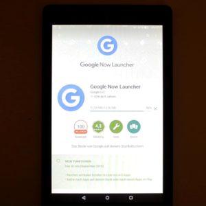 Google Now Launcher im Google Play Store auf dem Fire HD installieren