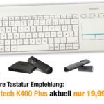 Deal: Fire TV Funk Tastatur Logitech K400 Plus nur 19,99€