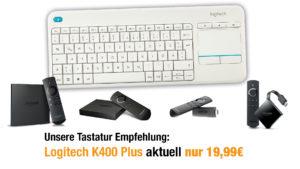 Logitech K400 Plus auf amazon reduziert
