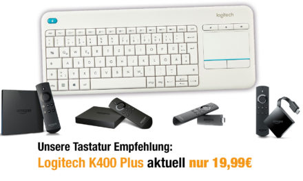 Deal: Fire TV Funk Tastatur Logitech K400 Plus nur 19,99€