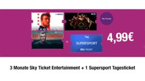 3 monate sky entertainment ticket und supoersport tagesticket für 4,99