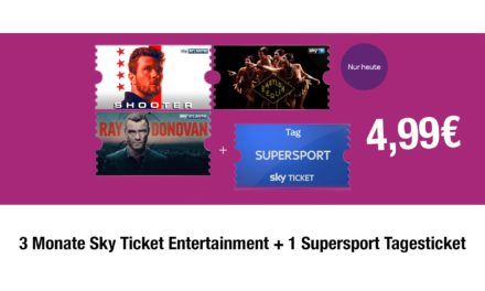 Deal: 3 Monate Sky Ticket Entertainment + 1 Supersport Tagesticket für 4,99€
