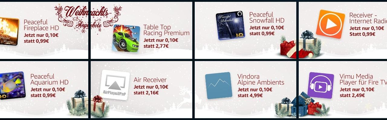 8 Fire TV Apps bzw. Games für 0,10€ im Angebot - auch AirReceiver