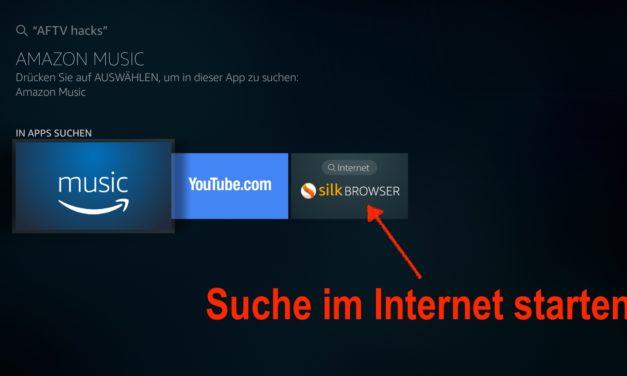 Quicktipp: direkt auf dem Fire TV im Internet suchen – auch mit Deiner Stimme