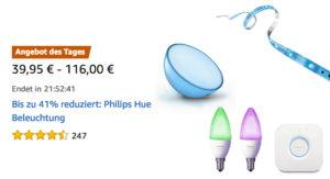 Philips Hue Lampen, Schalter & Bewegungsmelder heute im Angebot bei den Amazon Last-Minute-Deals