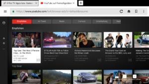 YouTube geht schonmal im Amazon Silk Browser