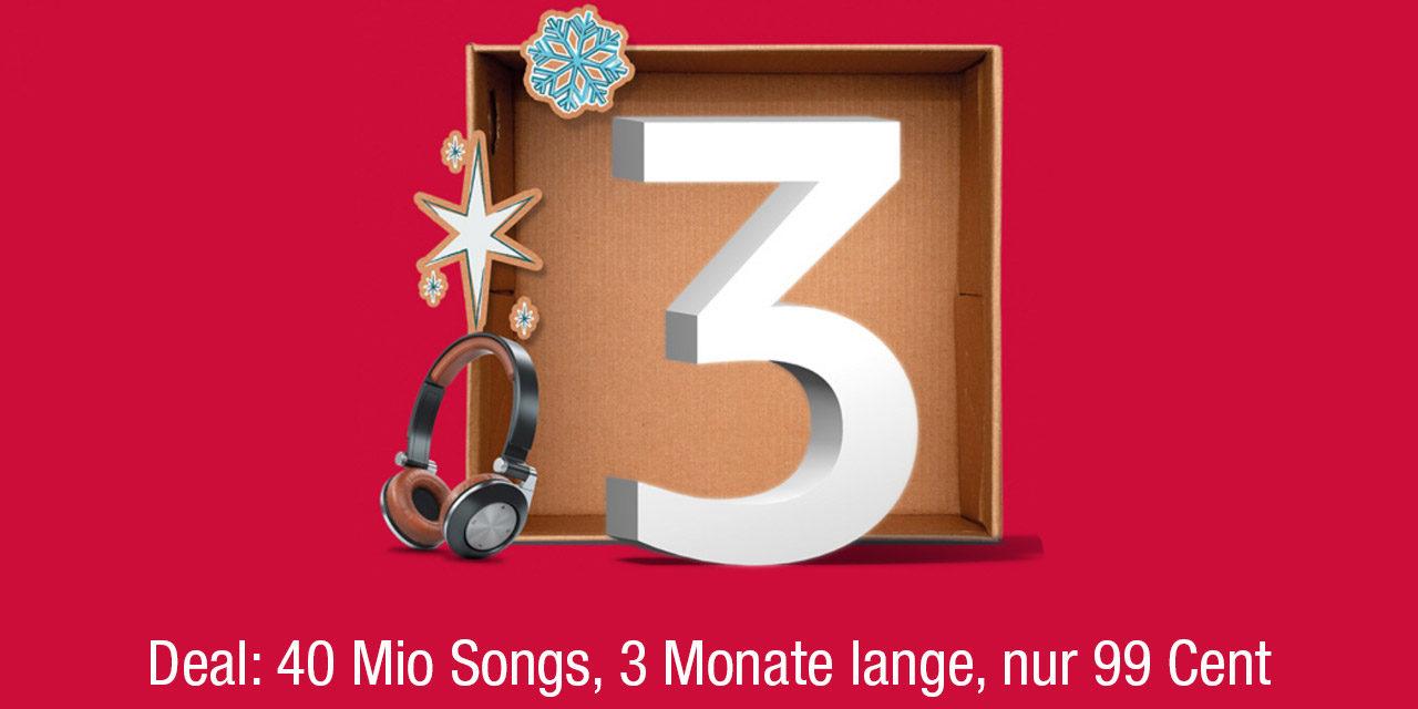 Im Dezember: 3 Monate Music Unlimited für nur 0,99€