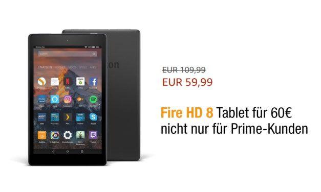Deal: Fire HD 8 Tablet für 60€ – nicht nur für Prime-Kunden