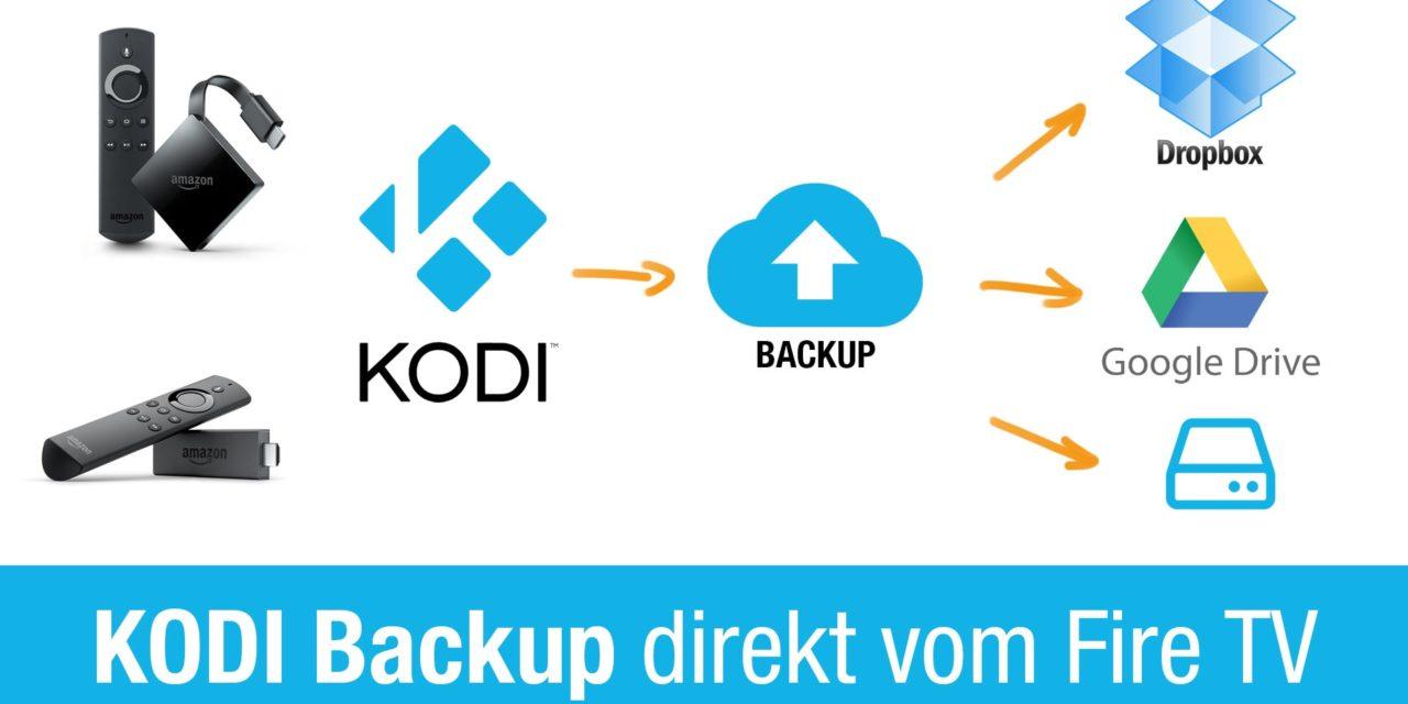 Anleitung: Kodi Backup direkt auf dem Fire TV anlegen & auf gleichem oder anderem Gerät zurücksichern
