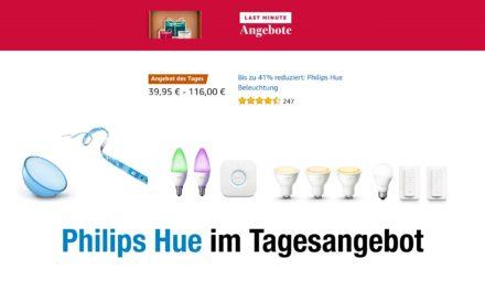 Deal: Einige Philips Hue Sets (Lampen, Schalter & Bewegungsmelder) im Angebot