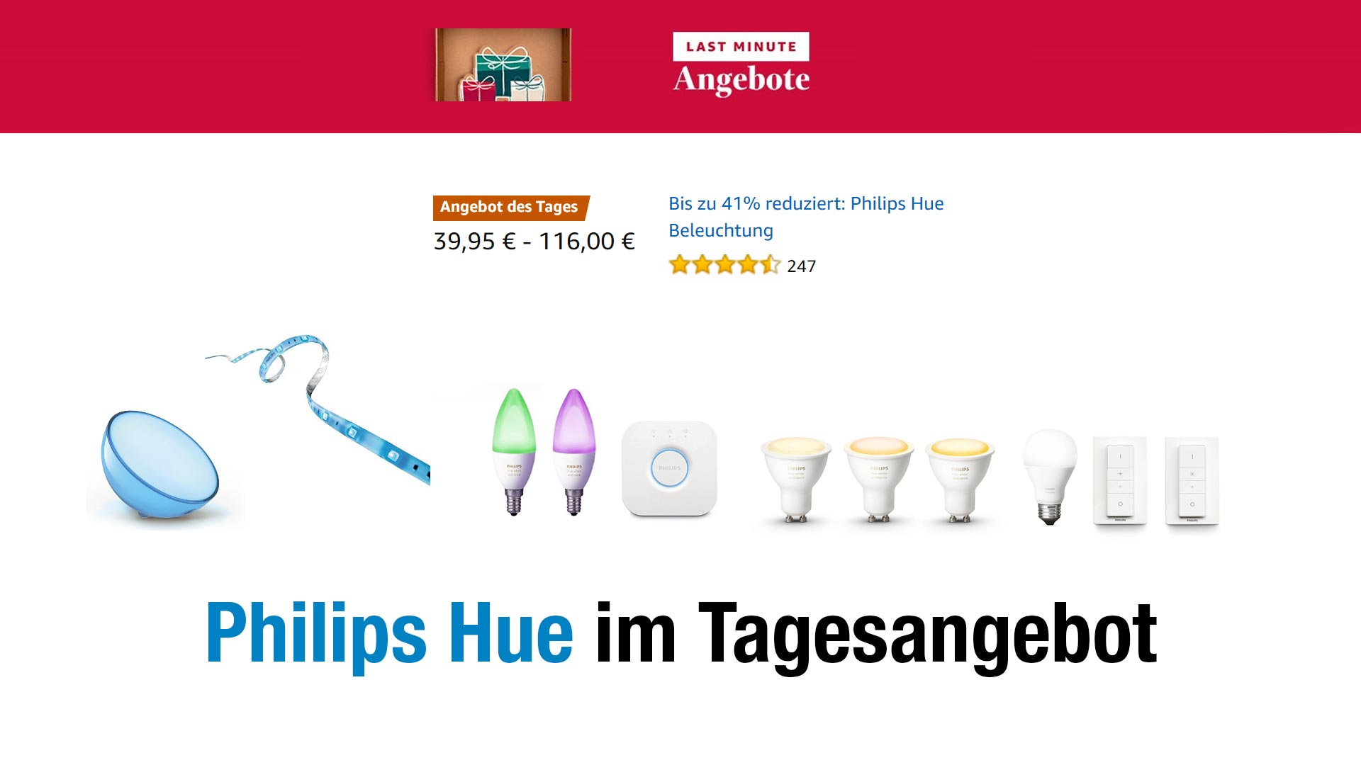 deal einige philips hue sets lampen schalter. Black Bedroom Furniture Sets. Home Design Ideas