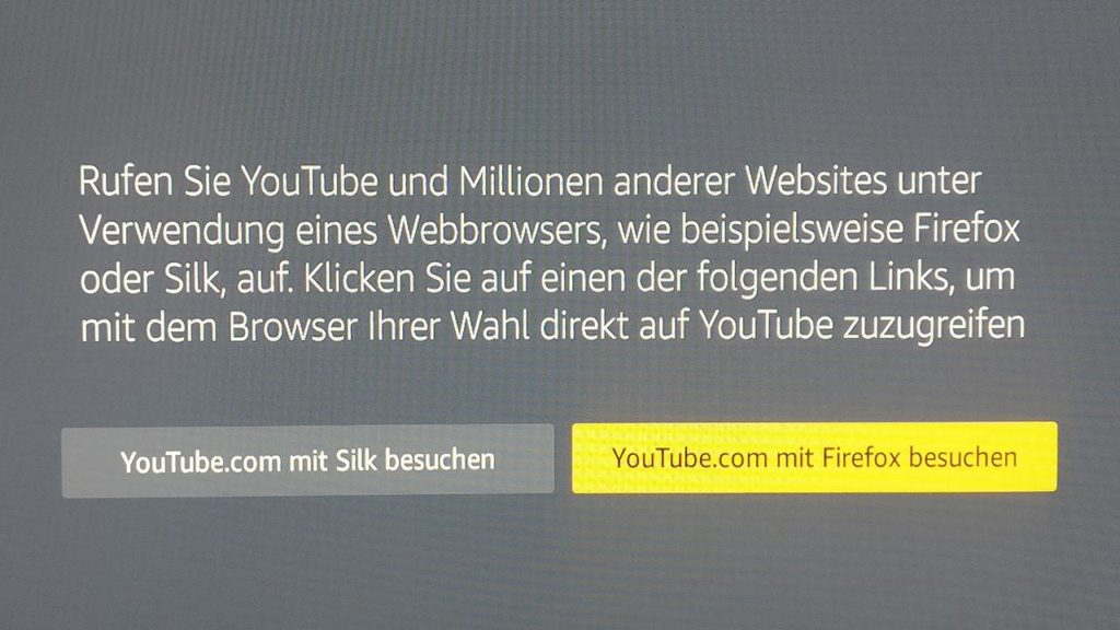 YouTube App funktioniert nicht mehr auf dem Fire TV
