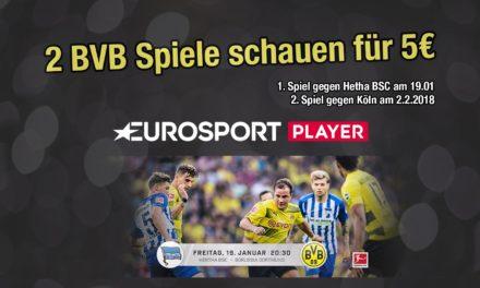 BVB heute im Eurosport Player. In 2 Wochen nochmal gegen Köln. Zusammen nur 5€ bei Amazon