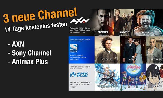 3 Neue amazon Channel 14 Tage kostenlos testen – AXN, Sony & Animax