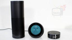 Echo Spot im Größenvergleich mit echo und echo dot