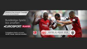 Heute Abend im Eurosport Player: Eintracht vs. Gladbach