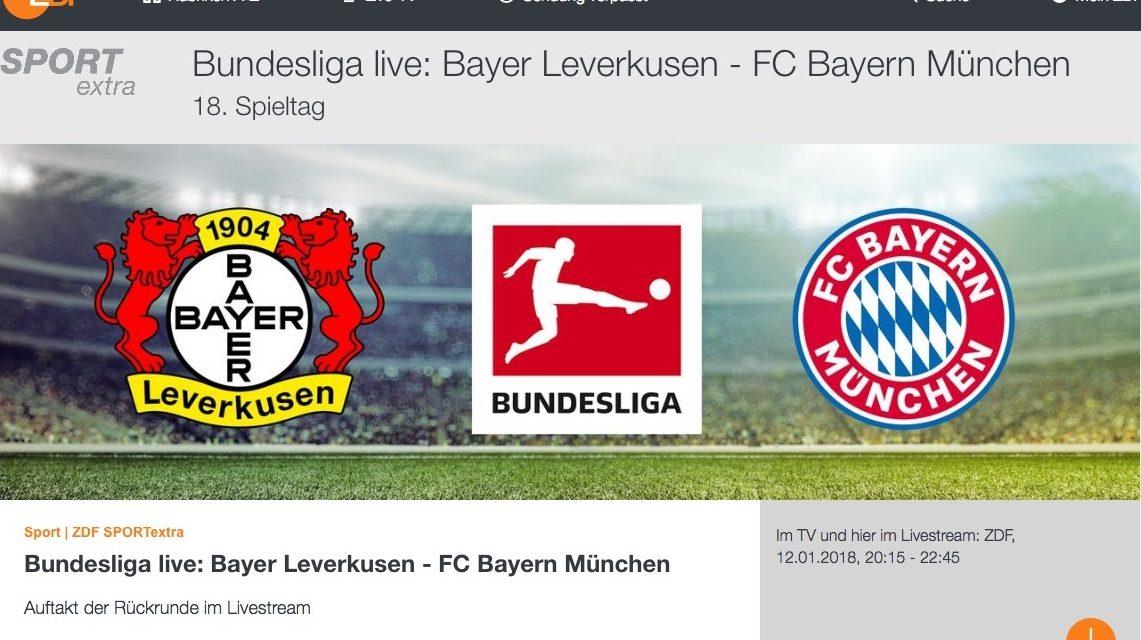 Heute Abend Bundesliga Kostenlos Schauen Bayer Leverkusen Bayern