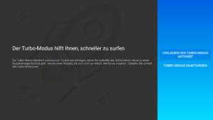 Meldung gleich beim Start von Firefox auf dem Fire TV - Der Turbo-Modus hilf Ihnen, schneller zu surfen