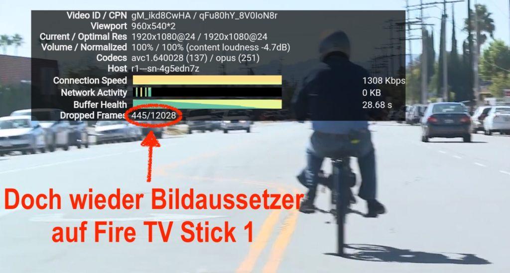 Mist, doch wieder dropped Frames - anscheinend liegt es am Format bzw. Auflösung, in der das Video erstellt wurde - meist tritt das YouTube-Stottern bei 4k-Videos auf