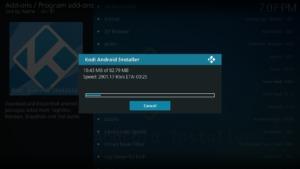 Nachdem Ihr Euch für eine Kodi-Variante entschieden habt, startet deren Download