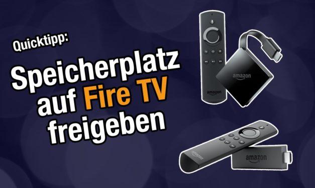 Tipp: Speicherplatz freiräumen auf dem Fire TV? Einfach Bildschirmschoner deaktivieren
