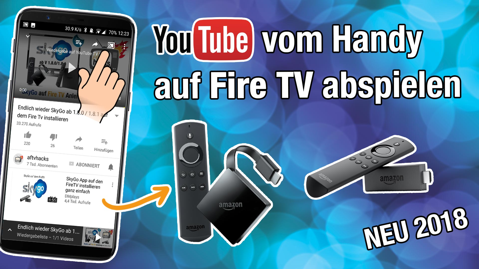 YouTube Videos vom Handy auf dem Fire TV abspielen 2018